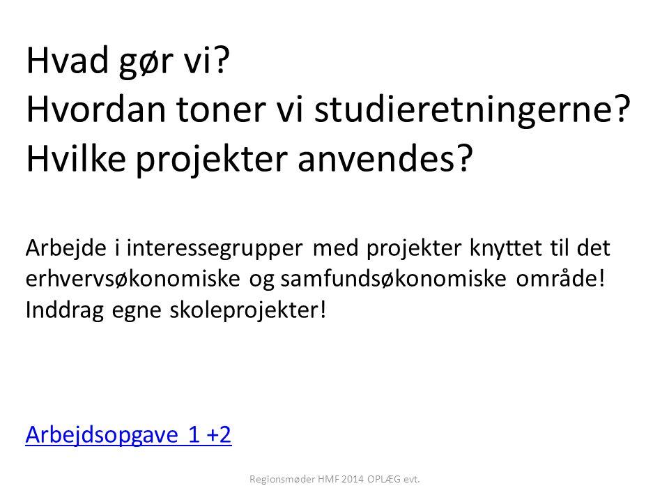 Regionsmøder HMF 2014 OPLÆG evt.