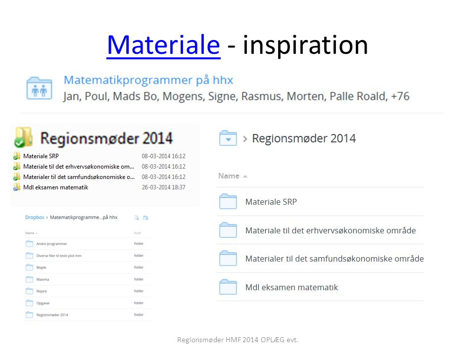 Materiale - inspiration
