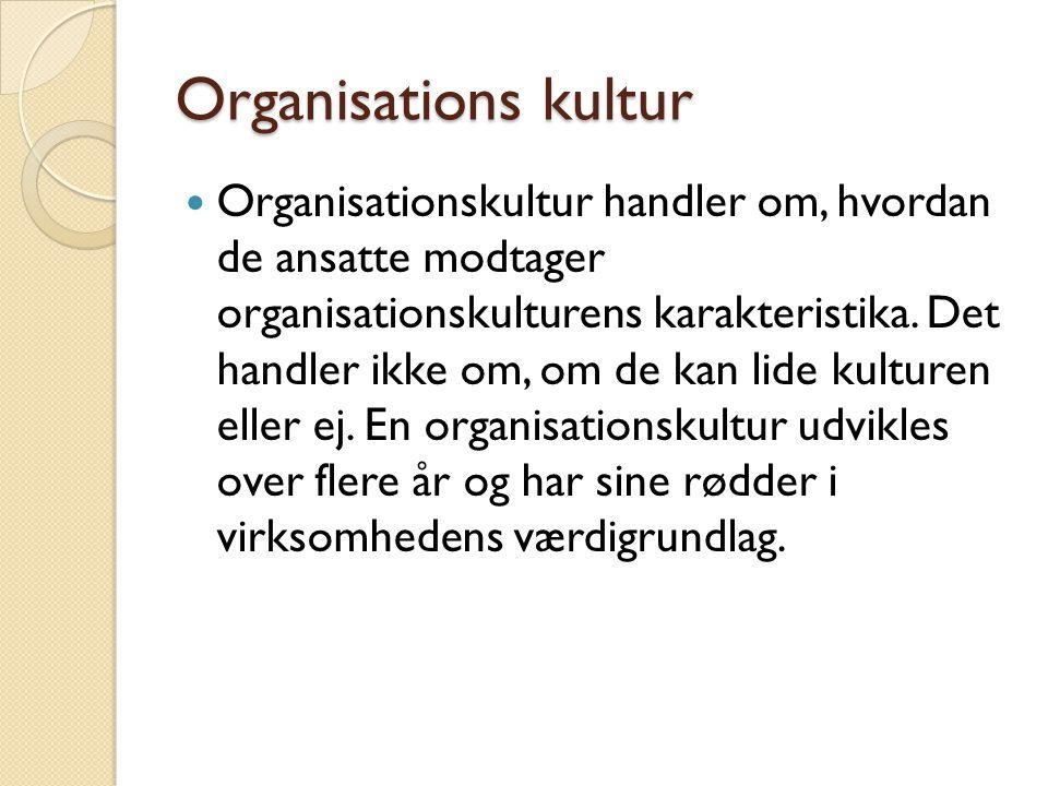 Organisations kultur