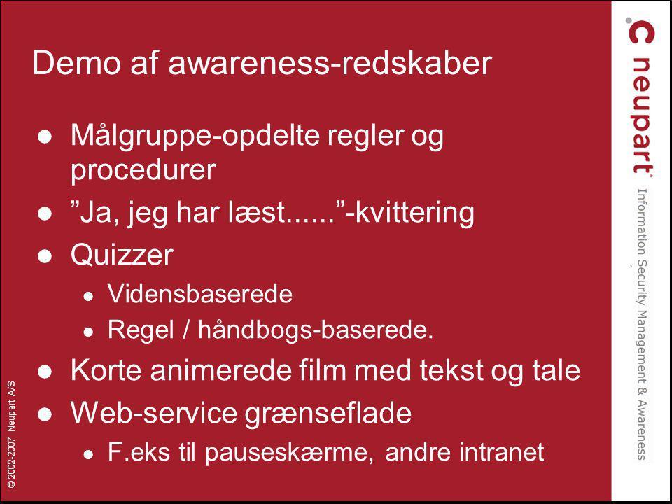 Demo af awareness-redskaber