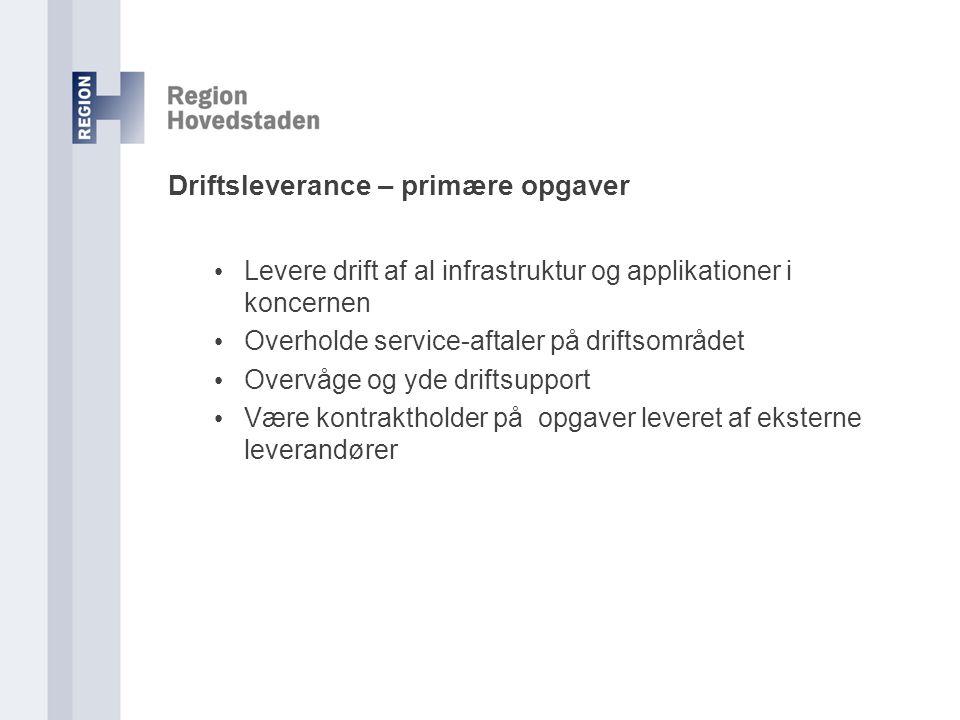 Driftsleverance – primære opgaver