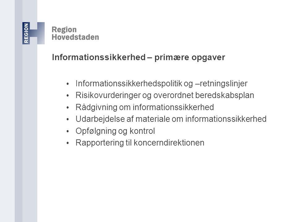 Informationssikkerhed – primære opgaver