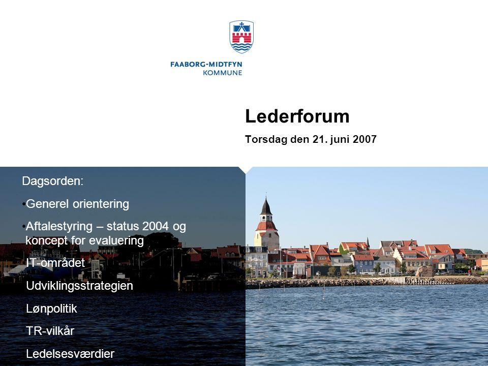 Lederforum Dagsorden: Generel orientering