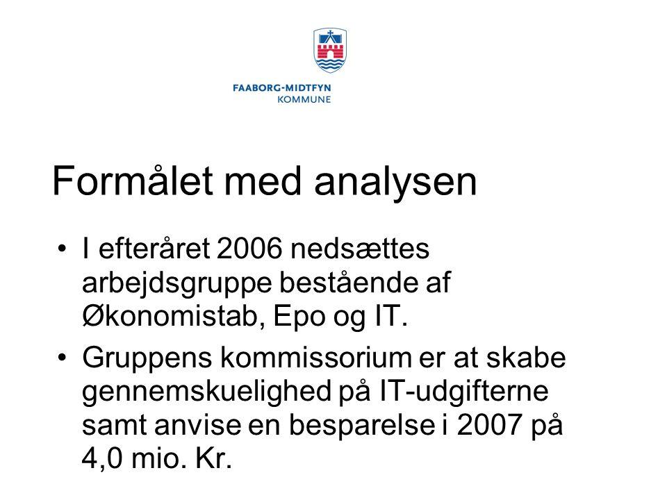 Formålet med analysen I efteråret 2006 nedsættes arbejdsgruppe bestående af Økonomistab, Epo og IT.