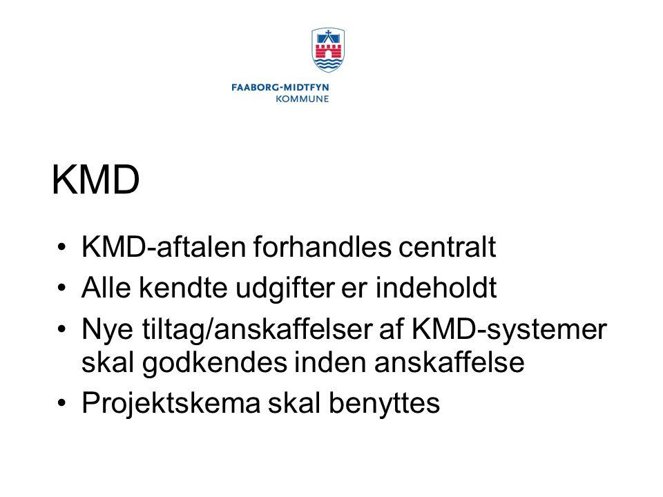 KMD KMD-aftalen forhandles centralt Alle kendte udgifter er indeholdt