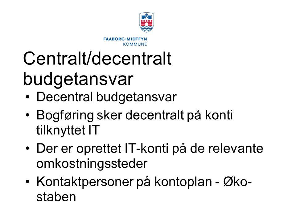 Centralt/decentralt budgetansvar