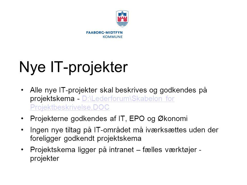 Nye IT-projekter Alle nye IT-projekter skal beskrives og godkendes på projektskema - D:\Lederforum\Skabelon for Projektbeskrivelse.DOC.
