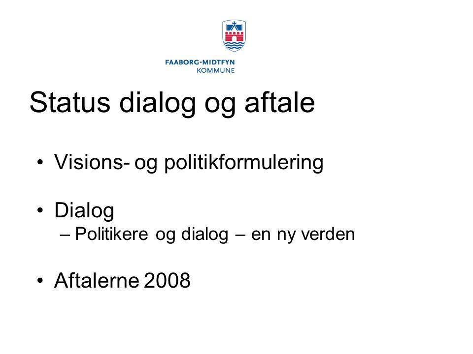 Status dialog og aftale