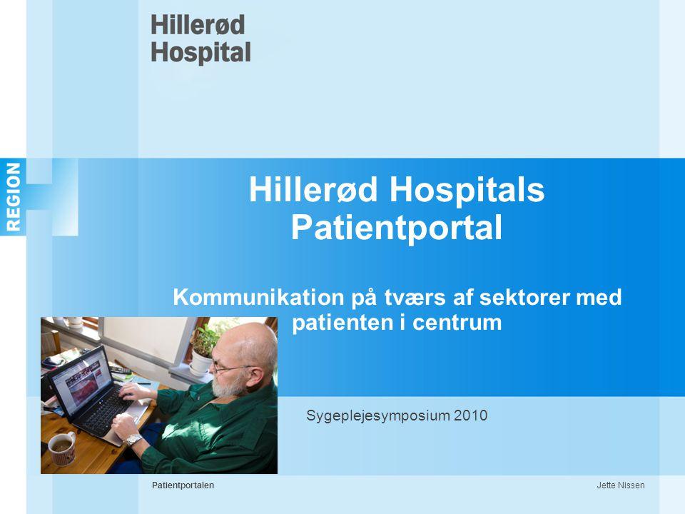 Hillerød Hospitals Patientportal Kommunikation på tværs af sektorer med patienten i centrum