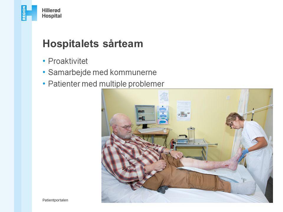 Hospitalets sårteam Proaktivitet Samarbejde med kommunerne