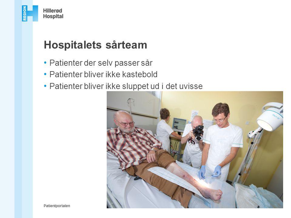 Hospitalets sårteam Patienter der selv passer sår