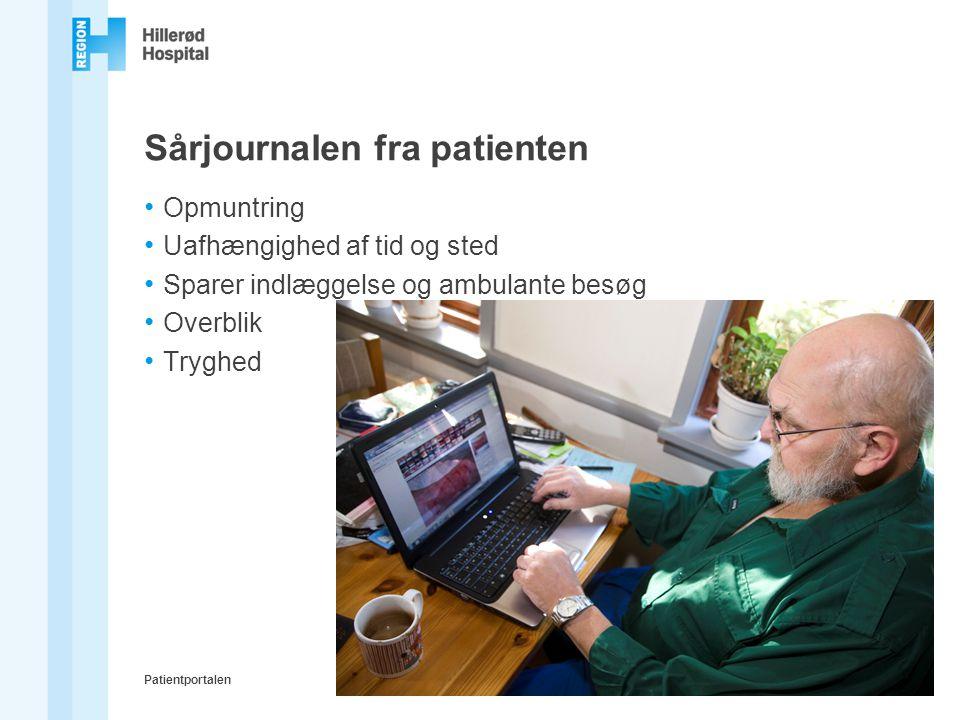 Sårjournalen fra patienten