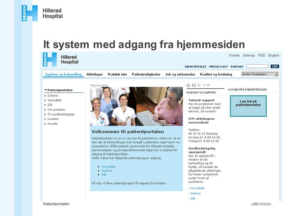 It system med adgang fra hjemmesiden