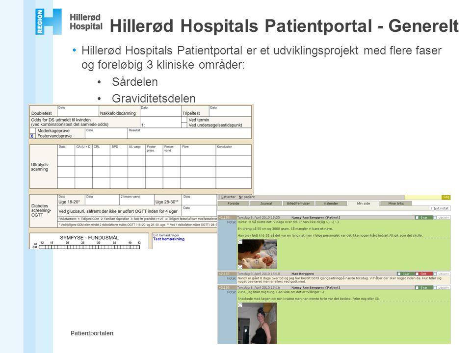 Hillerød Hospitals Patientportal - Generelt