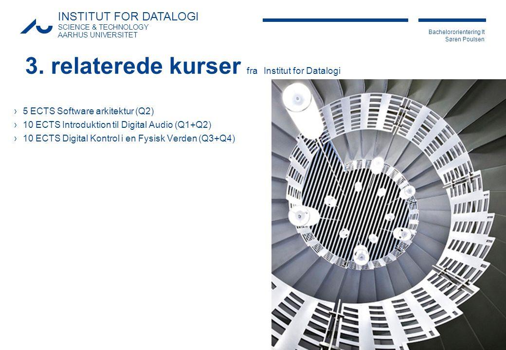 3. relaterede kurser fra Institut for Datalogi
