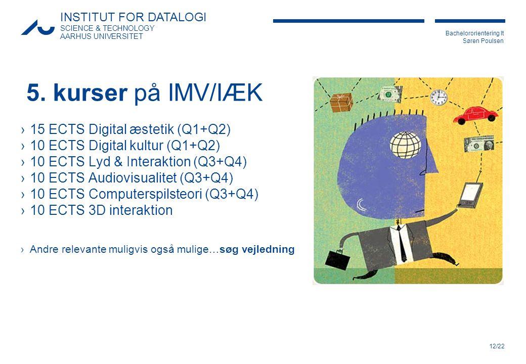 5. kurser på IMV/IÆK 15 ECTS Digital æstetik (Q1+Q2)
