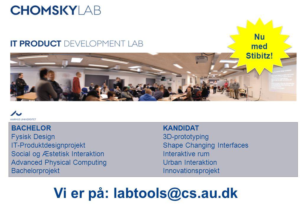 Vi er på: labtools@cs.au.dk