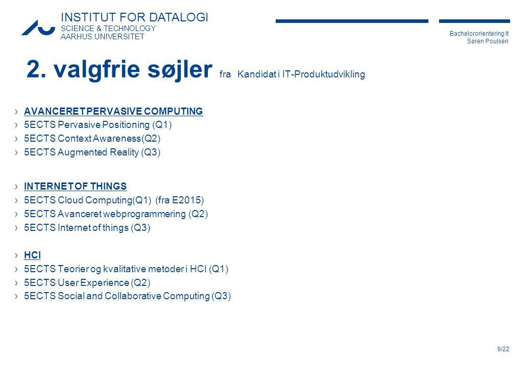 2. valgfrie søjler fra Kandidat i IT-Produktudvikling