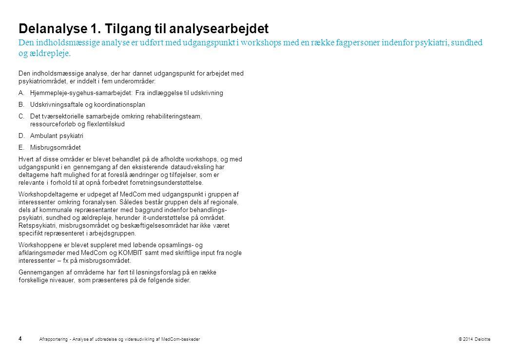 Delanalyse 1. Tilgang til analysearbejdet