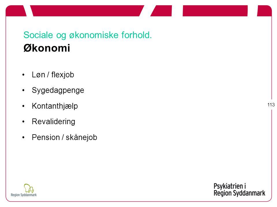 Sociale og økonomiske forhold. Økonomi