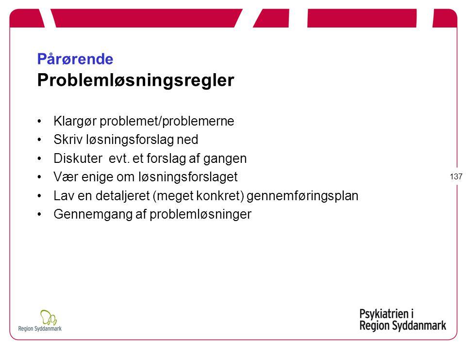 Pårørende Problemløsningsregler
