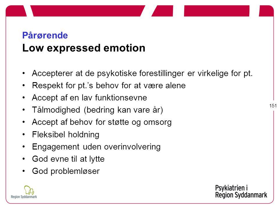 Pårørende Low expressed emotion