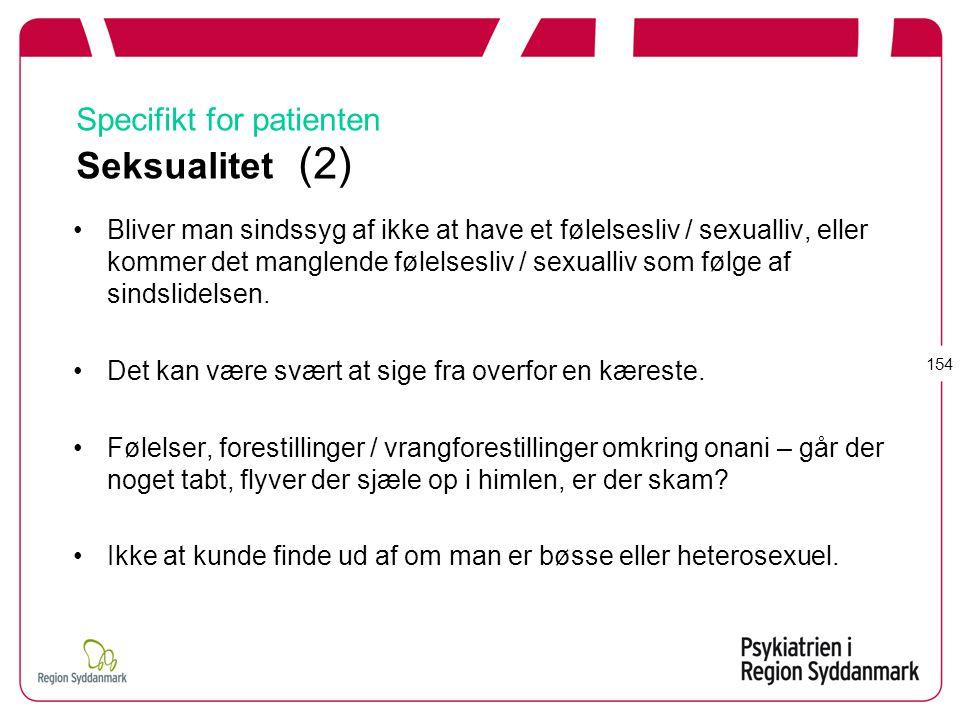 Specifikt for patienten Seksualitet (2)