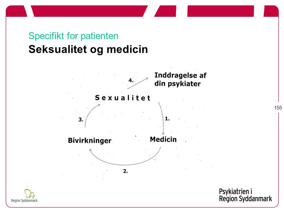 Specifikt for patienten Seksualitet og medicin