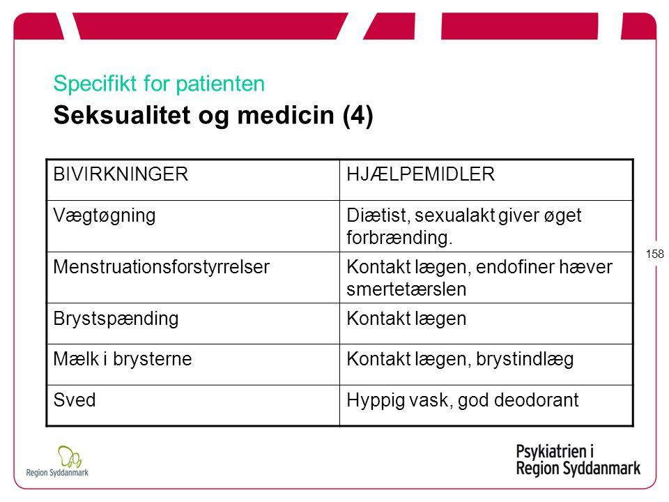 Specifikt for patienten Seksualitet og medicin (4)