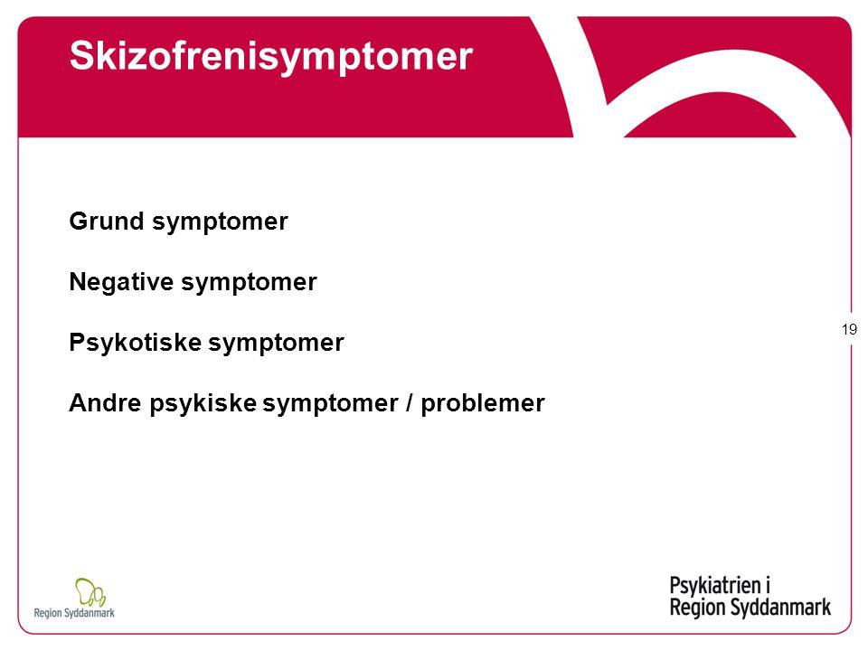 Skizofrenisymptomer Grund symptomer Negative symptomer