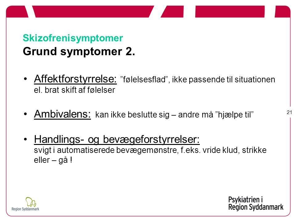 Skizofrenisymptomer Grund symptomer 2.