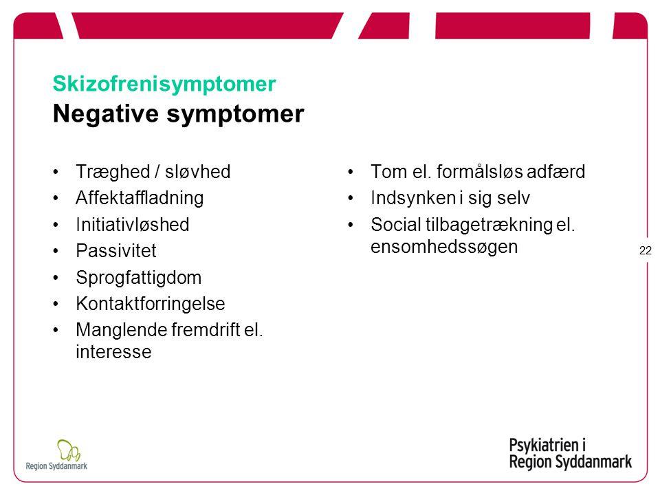 Skizofrenisymptomer Negative symptomer