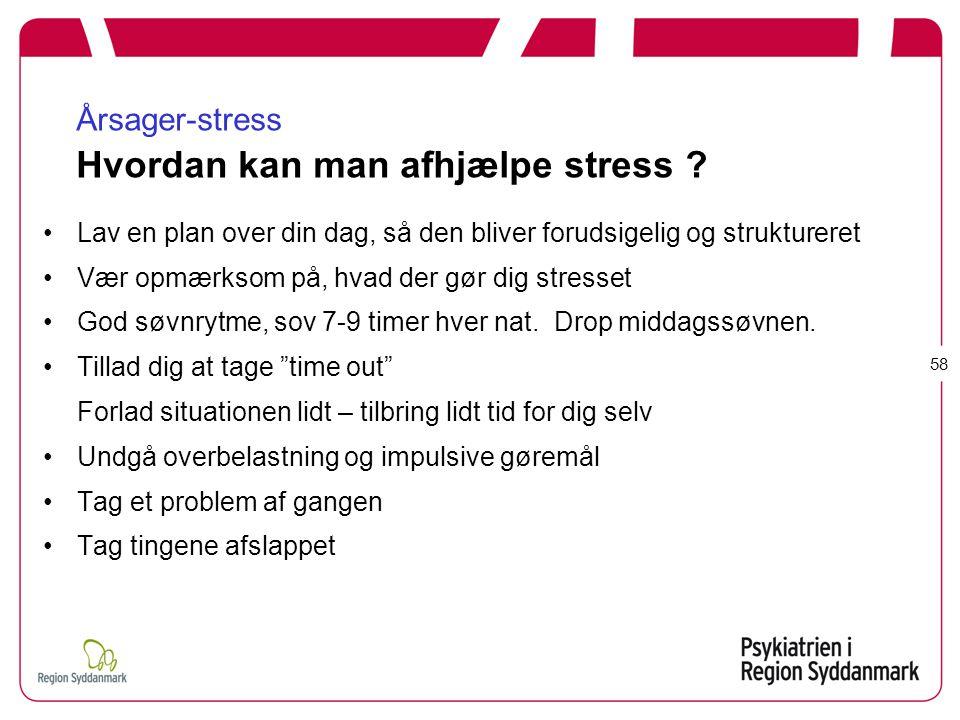 Årsager-stress Hvordan kan man afhjælpe stress