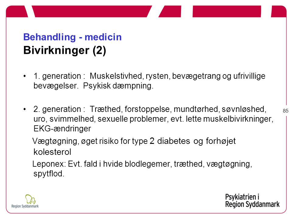 Behandling - medicin Bivirkninger (2)
