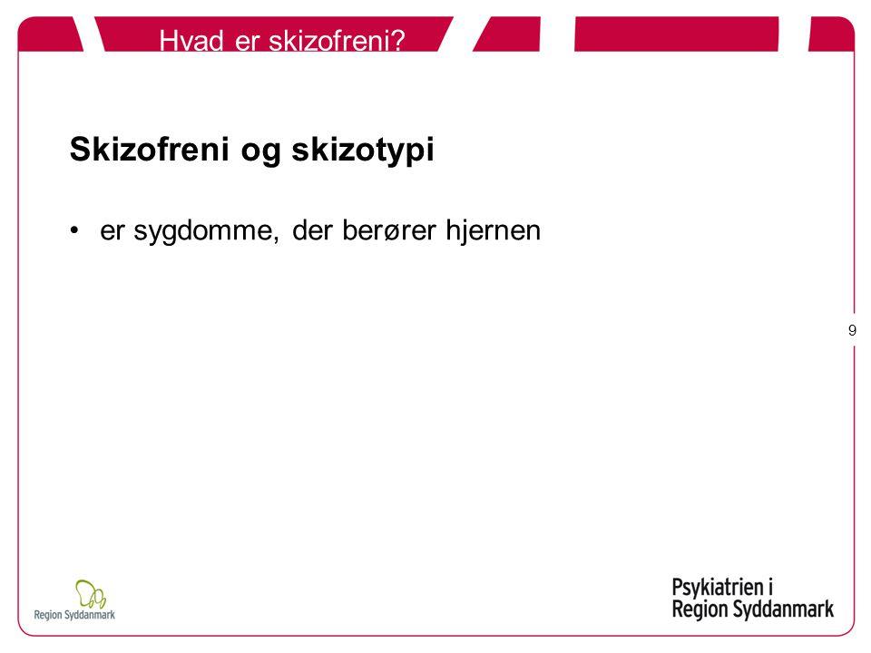 Skizofreni og skizotypi
