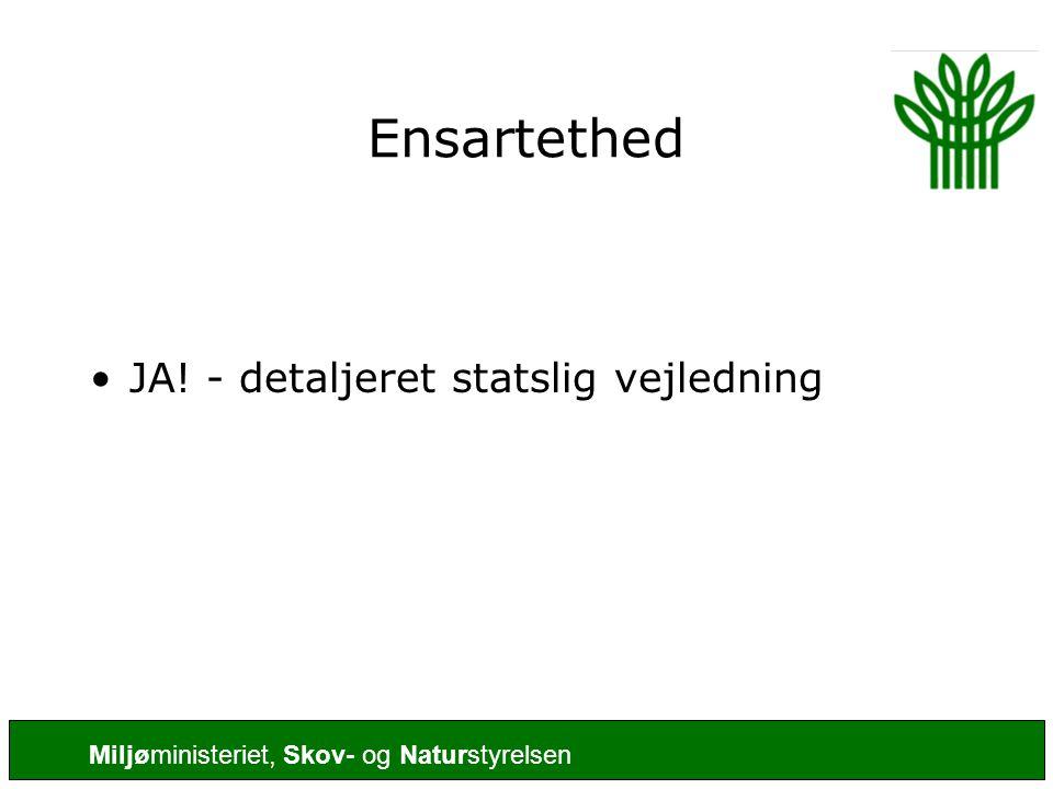 Ensartethed JA! - detaljeret statslig vejledning