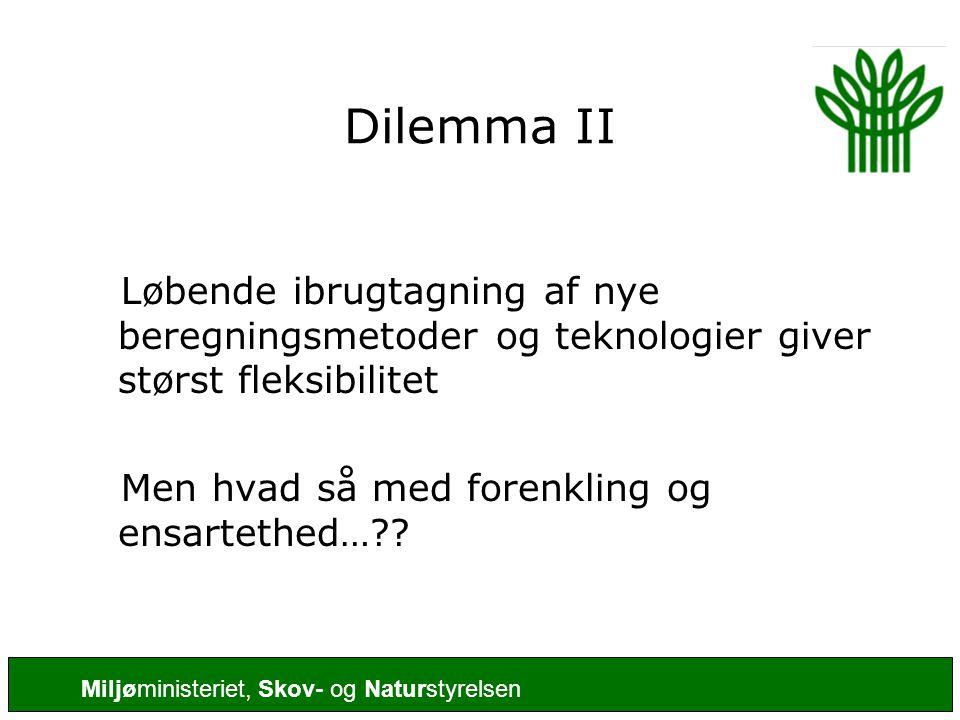 Dilemma II Løbende ibrugtagning af nye beregningsmetoder og teknologier giver størst fleksibilitet.