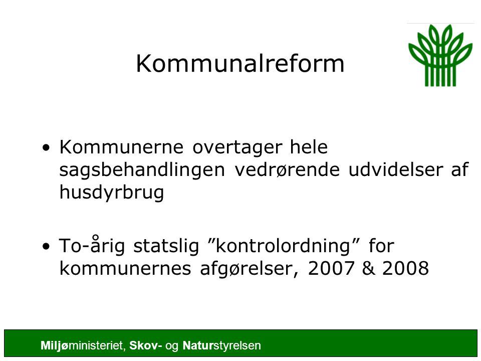 Kommunalreform Kommunerne overtager hele sagsbehandlingen vedrørende udvidelser af husdyrbrug.