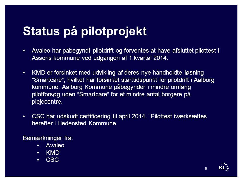 Status på pilotprojekt