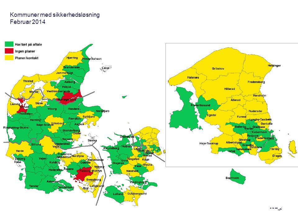 Kommuner med sikkerhedsløsning