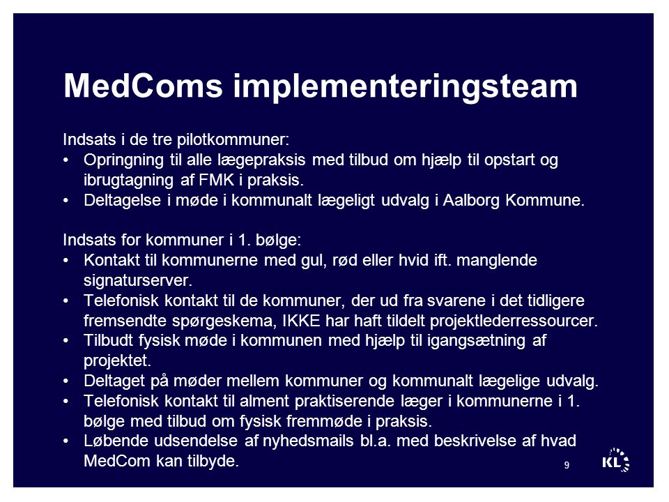 MedComs implementeringsteam