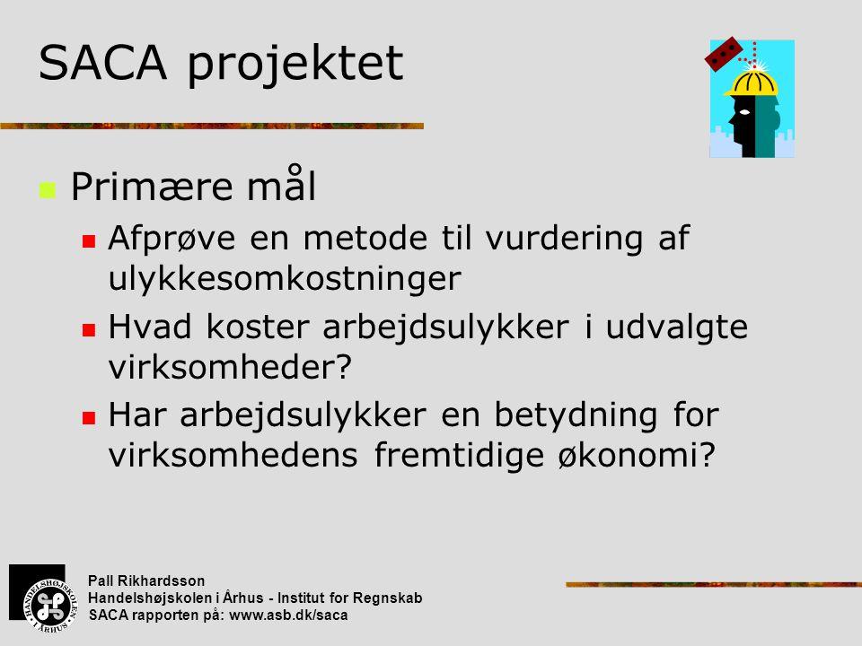 SACA projektet Primære mål
