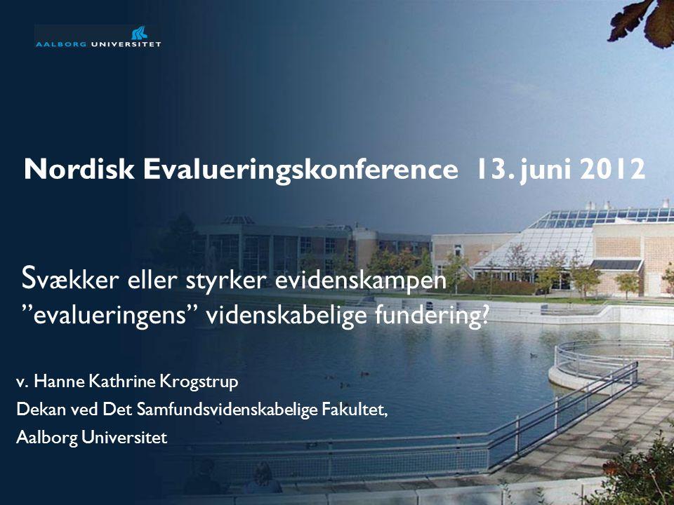Nordisk Evalueringskonference 13. juni 2012