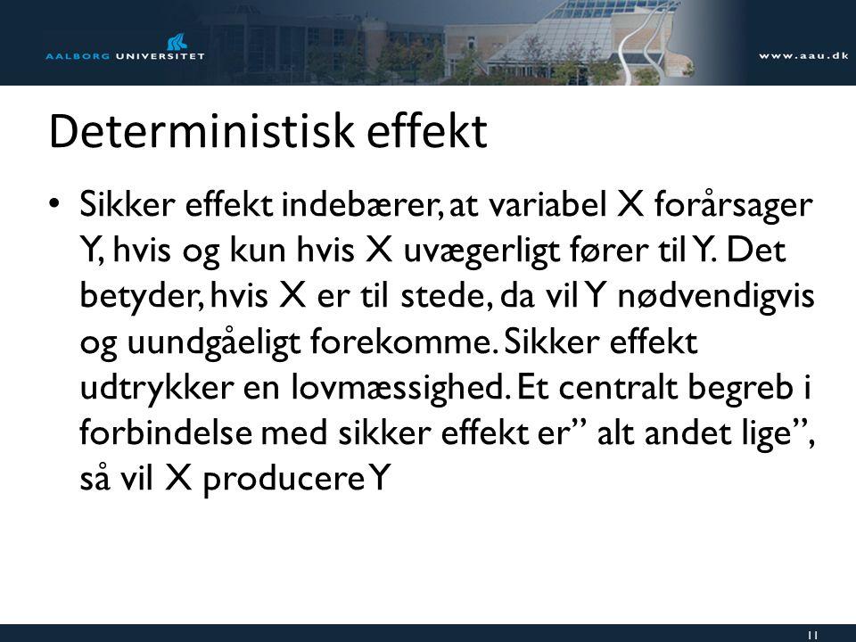Deterministisk effekt