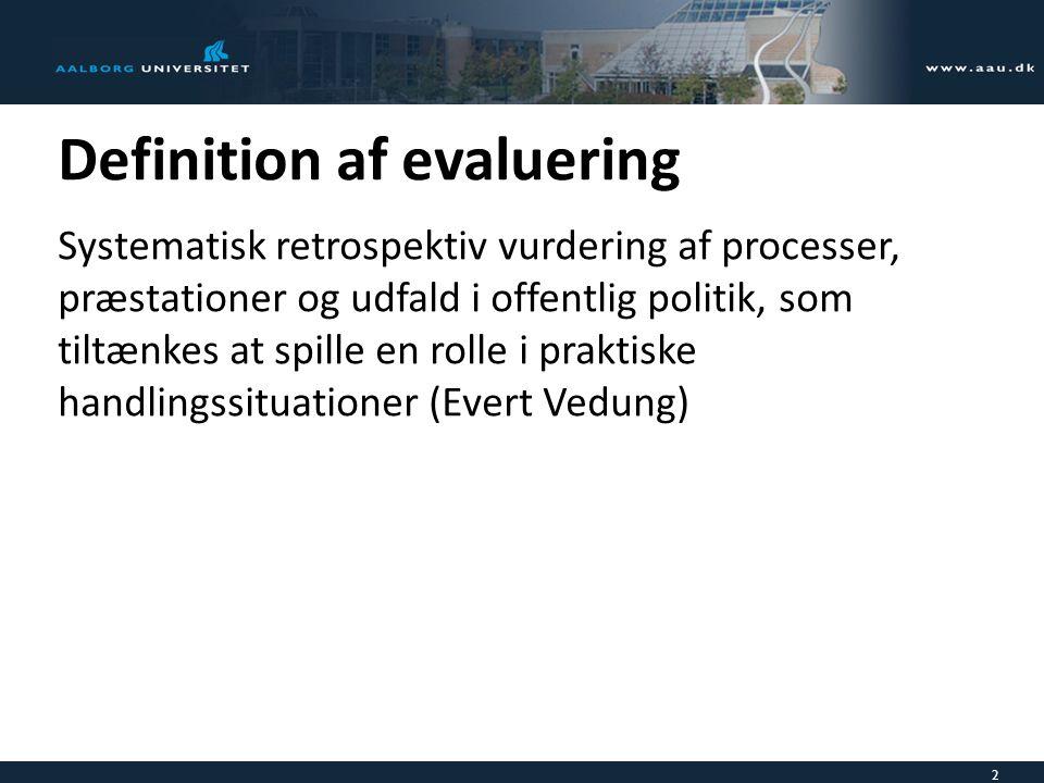 Definition af evaluering