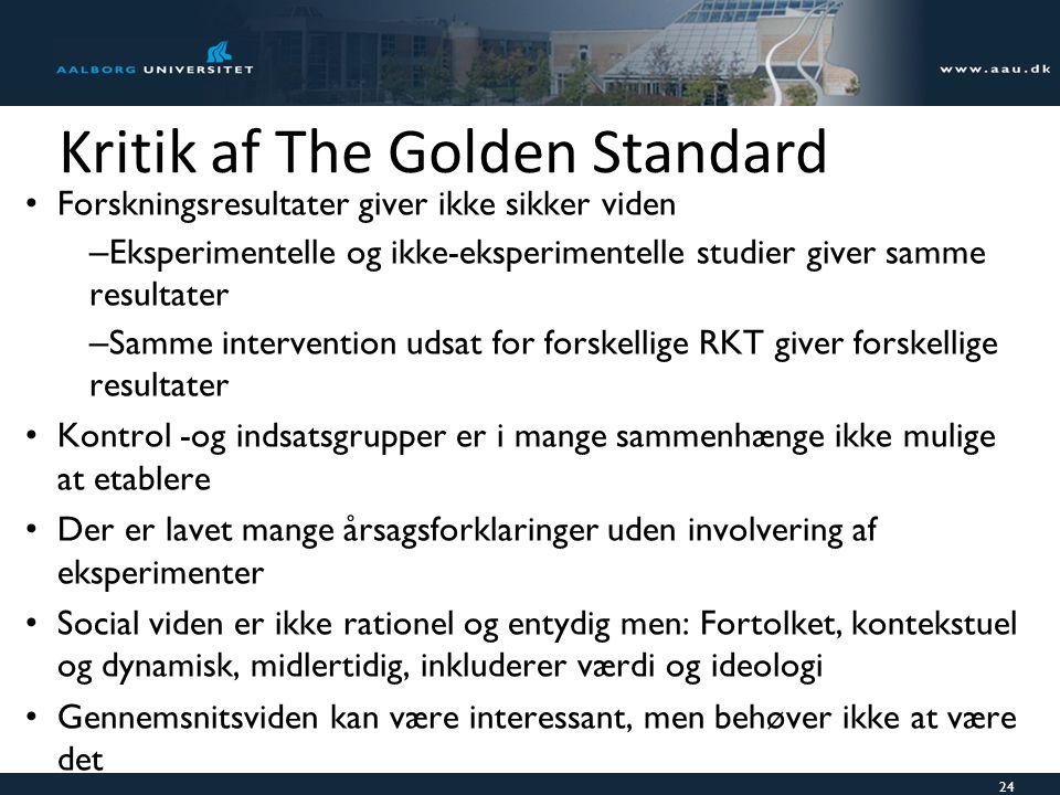 Kritik af The Golden Standard