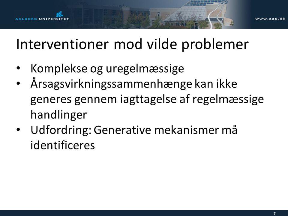 Interventioner mod vilde problemer