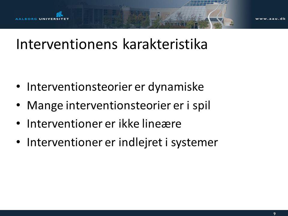 Interventionens karakteristika