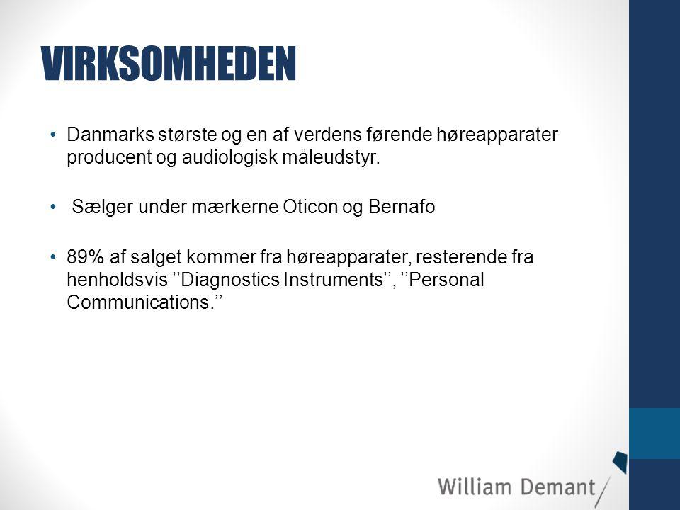 VIRKSOMHEDEN Danmarks største og en af verdens førende høreapparater producent og audiologisk måleudstyr.