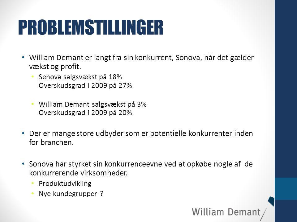 PROBLEMSTILLINGER William Demant er langt fra sin konkurrent, Sonova, når det gælder vækst og profit.